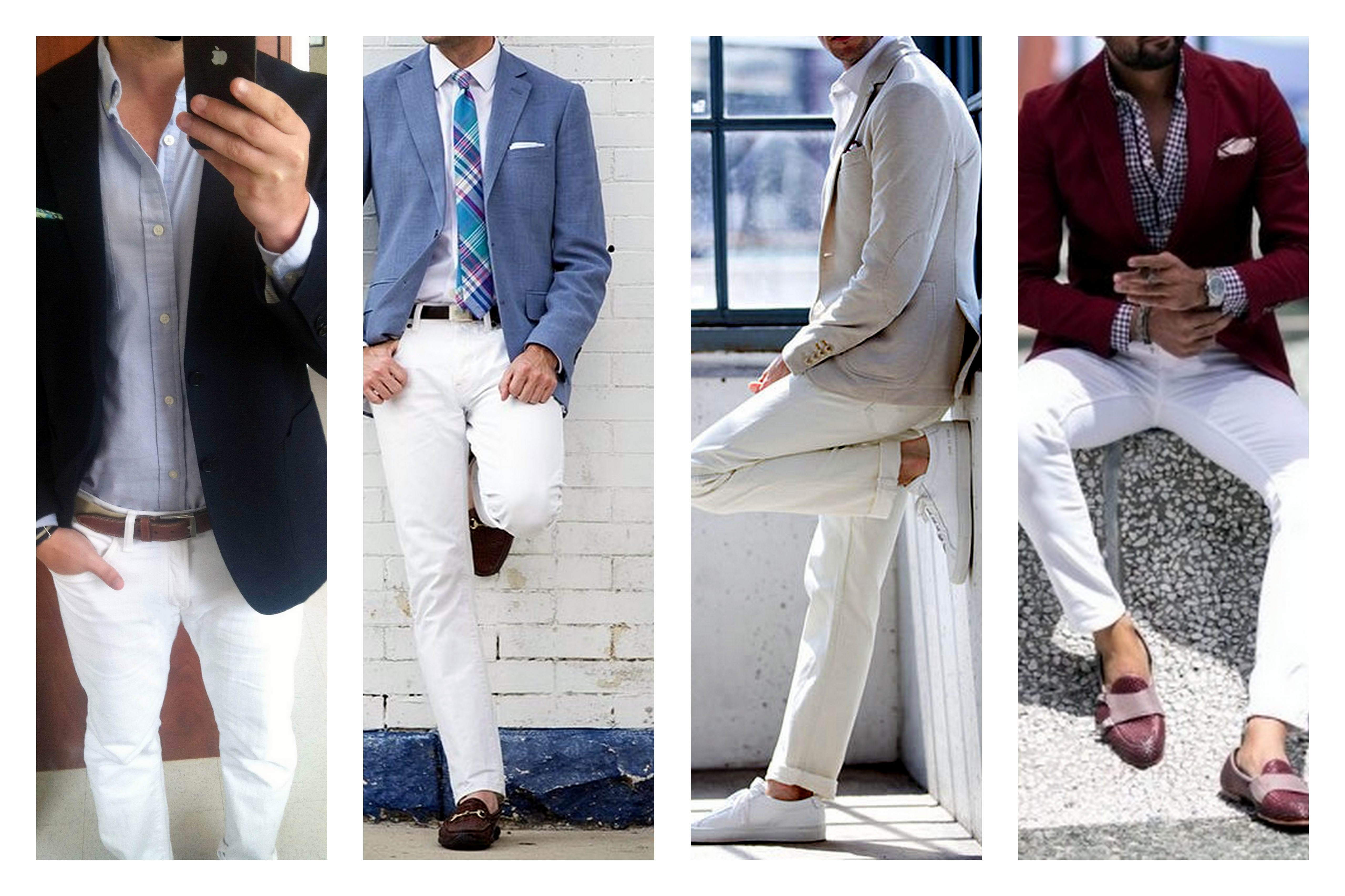 White Jeans with blazer
