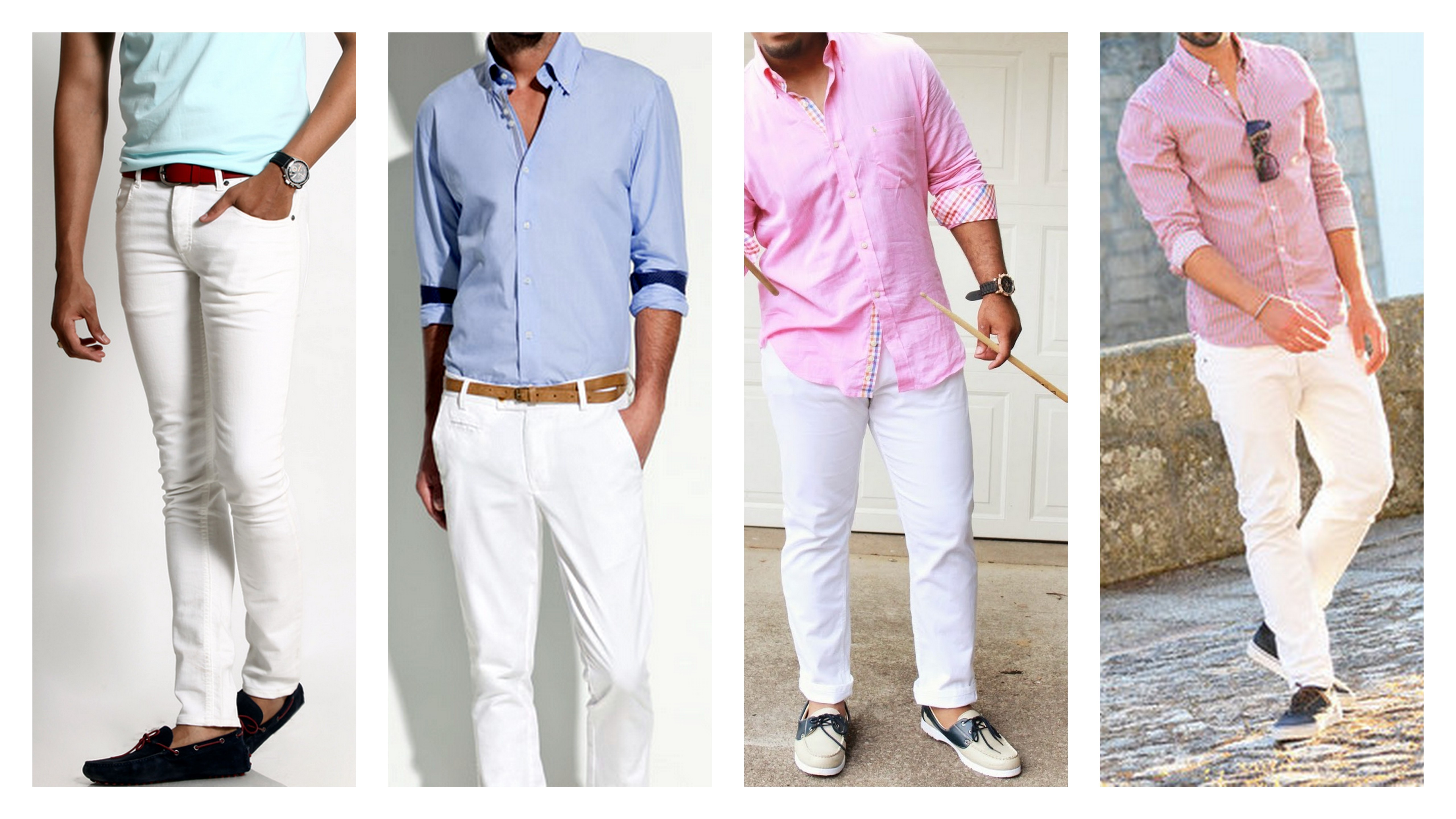 white jeans light color shirt