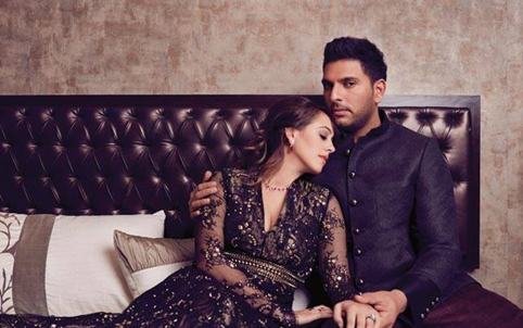 Yuvraj and hazel tie the knot