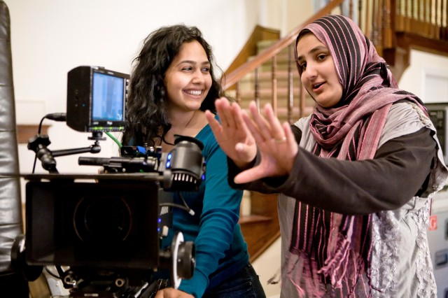Nausheen Dadabhoy with Lena, a talented director and writer.